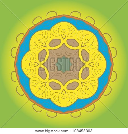 Vector ornamental round lace