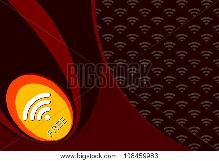 Wifi Free Password Concept Design Vector Art