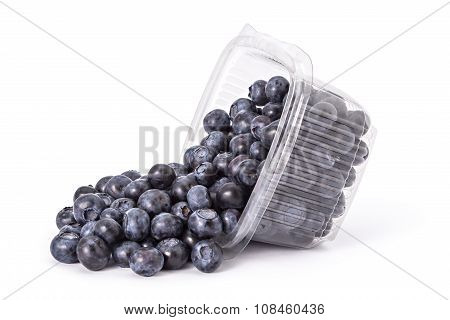 Fresh ripe organic blueberries