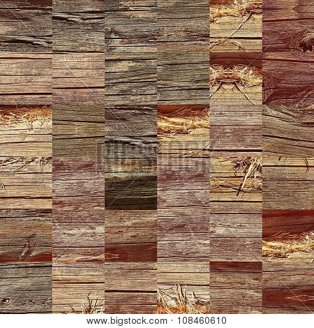 Wooden Jigsaw Puzzle Pattern As Abstract Background.