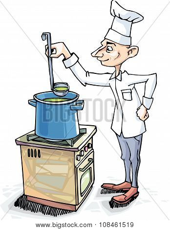 Chef is Cooking the Soup
