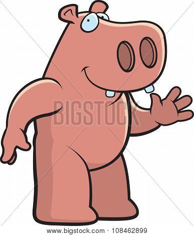 Hippo Waving