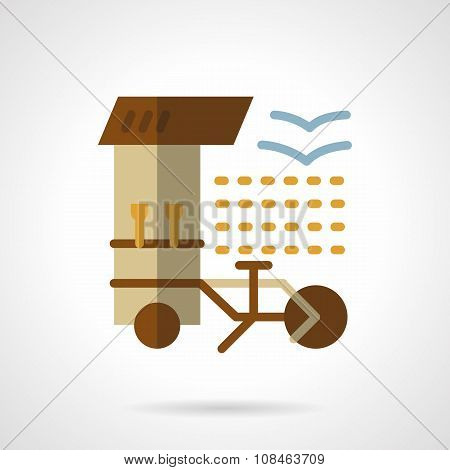 Coffee shop flat color vector icon