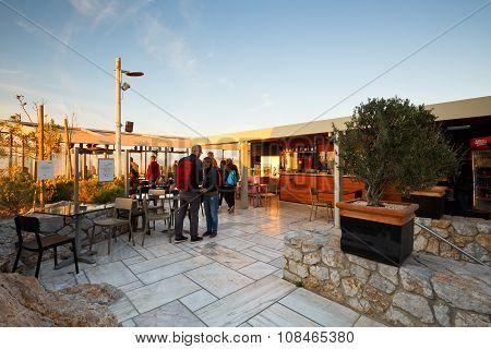 Coffee shop on Lycabettus Hill.