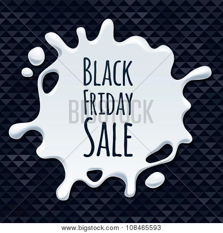 Abstract black friday sale splash sticker design.