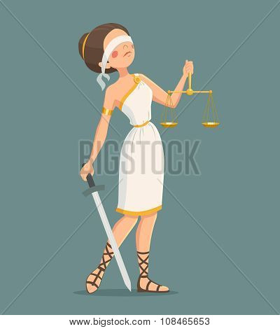 Justice Lady Illustration