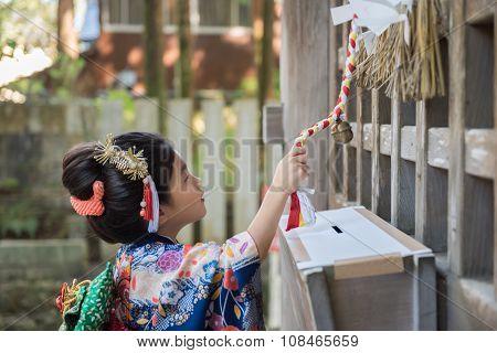 Young Girl In Kimono
