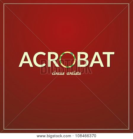 Acrobat logo, vector illustration