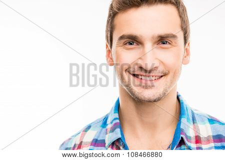 Portrait Of A Cute Handsome Young Toothy Man