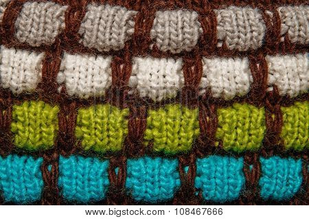 Colorful Thread Knitting Wool Texture Background.