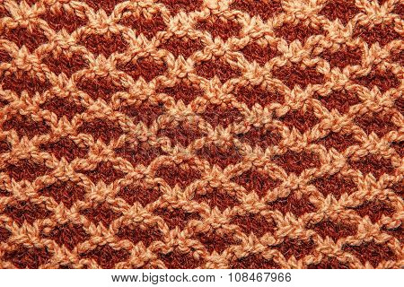 Brown Knitted Cloth Is Made By Hand.