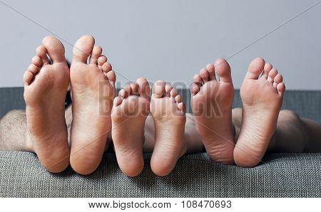 Human soles close-up.