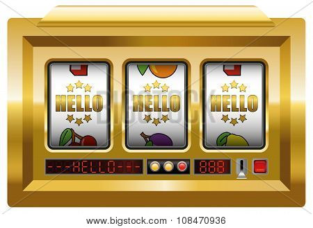 Golden Hello Slot Machine