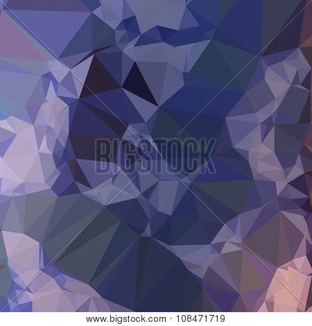 Bluebonnet Blue Orange Abstract Low Polygon Background