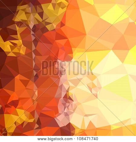 Deep Saffron Orange Abstract Low Polygon Background