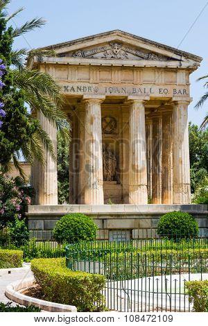 picturesque view on Lower Barrakka Gardens in Valletta in Malta