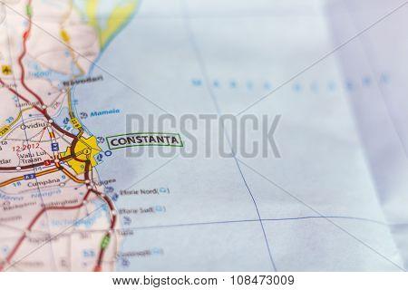 Constanta On A Map