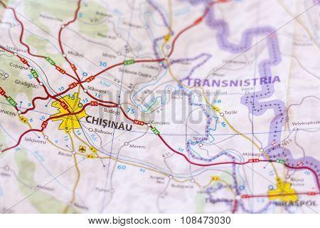 Chisinau On A Map