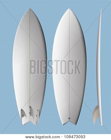 White Clean Surfboard