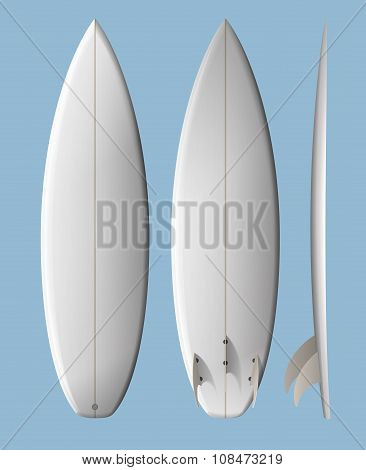 White Clean Surfboard