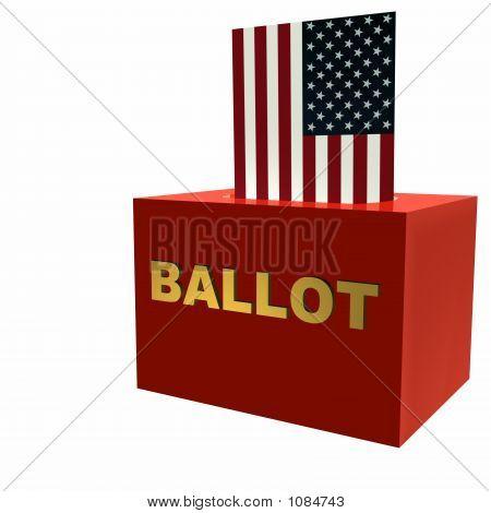 US-amerikanischer Wahlurne