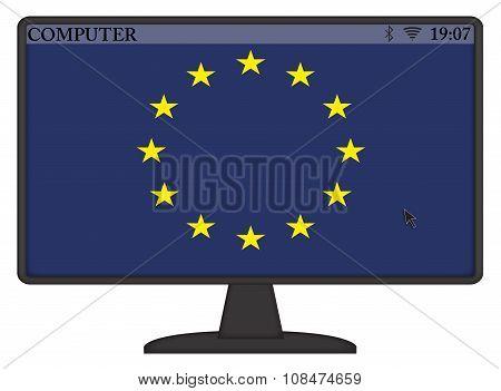 Eu Computer Flag