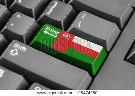 Enter Button With Oman Flag
