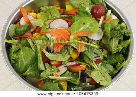 Closeup Of A Beautiful Salad