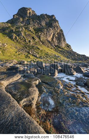 Rocky Coastline On Lofoten Islands, Norway
