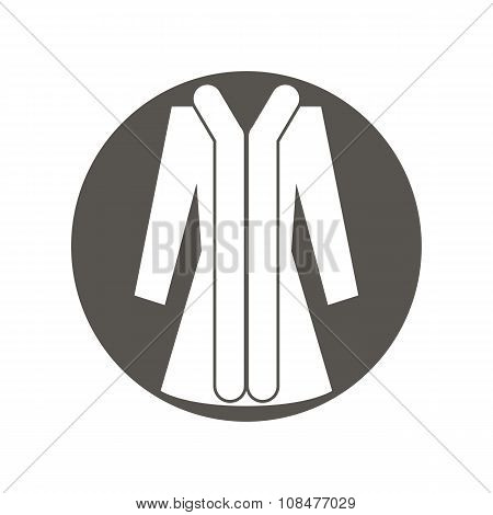 Cloth icon, vector illustration of woman coat.