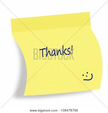 thank you note post it
