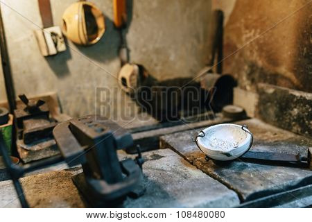 Jeweler Tools In A Furnace