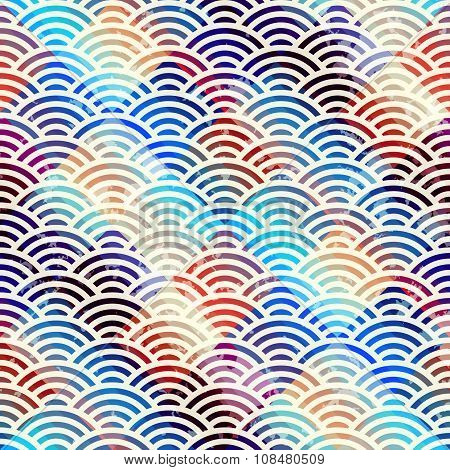 Abstract arc pattern