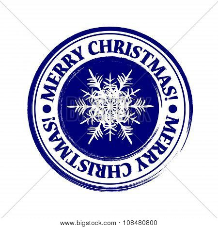 Merry Christmas grunge post stamp