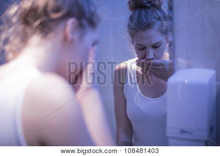 Girl In Bathroom
