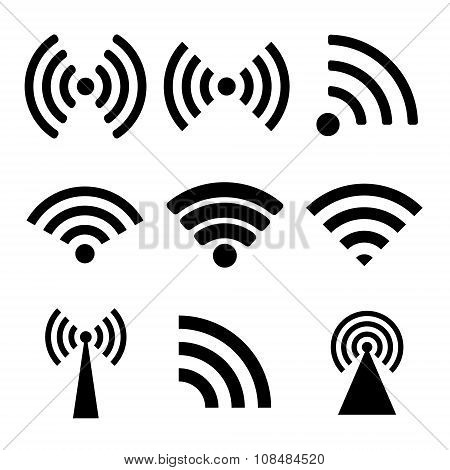 Wireless Technology. Flat Design Style