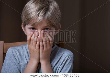 Afraid Young Boy