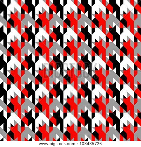 Hounds-tooth patterns in classic colors