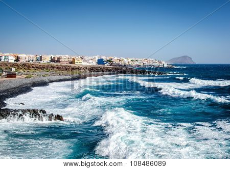 Los Abrigos, Small Fishing Village In Granadilla De Abona, Tenerife. Canary Islands, Spain