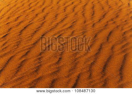 Sand wind wave pattern in the desert