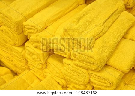 Yellow Terry Towels