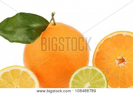 reflection of an orange. symbolic photo for healthy vitamins through fresh fruit
