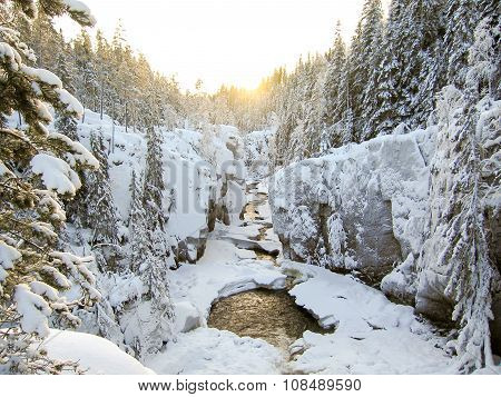 Winter River Canyon