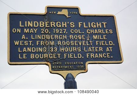 Charles Lindbergh's 1927 solo transatlantic flight memorial site