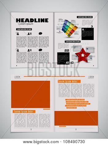 Vector of newspaper template