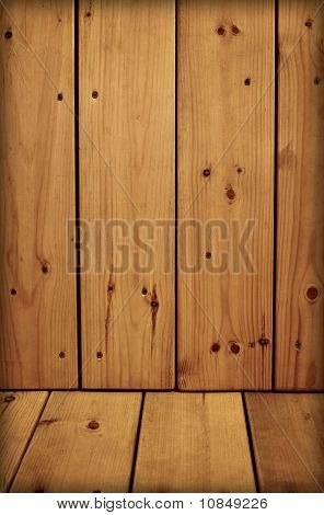 Unpretentious Wooden Walls And Floor