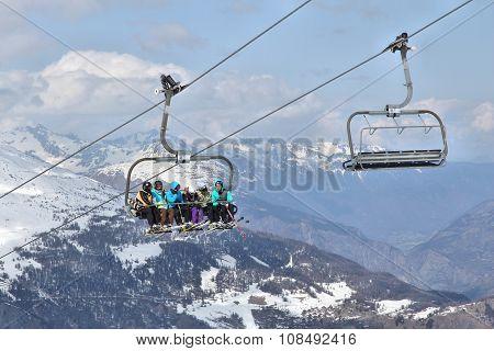 Ski Lift In France