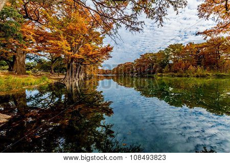 Autumn on the Frio River at Garner State Park, Texas