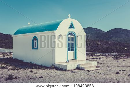 Blue And White Orthodox Chapel