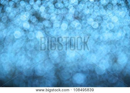 Winter Blue Glitter Light Christmas Abstract Blur Background
